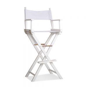 Artiss Tall Director Chair - White