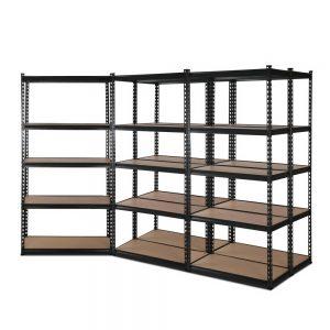 5x0.7M Warehouse Shelving Racking Storage Garage Steel Metal Shelves Rack