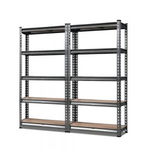 Giantz 2x0.7M Steel Warehouse Racking Rack Shelving Storage Garage Shelves Shelf