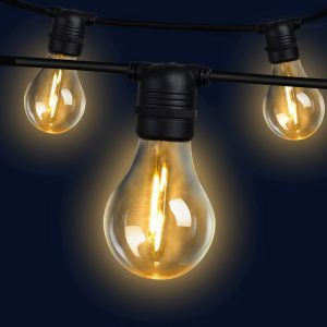 Jingle Jollys 23m LED Festoon String Lights 20 Bulbs Kits Wedding Party Christmas A19