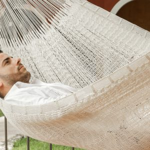King Size Outdoor Cotton Hammock in Cream