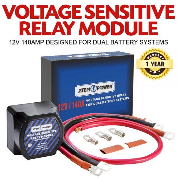 Dual Battery Isolator 12V 140 Amp VSR Voltage Sensitive Relay 4WD Camper Camping
