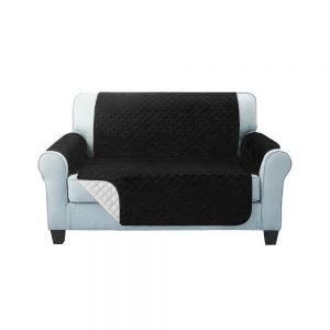 Artiss Sofa Cover Quilted Couch Covers Protector Slipcovers 2 Seater Black